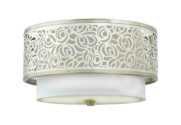 Silver Drum Flush Mount Ceiling Lights
