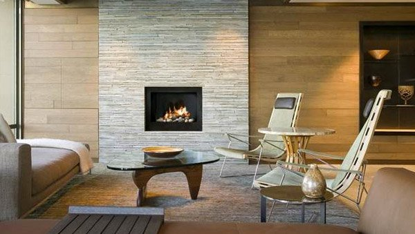 A twist of old brick fireplaces in 15 modern and - How to make a brick fireplace look modern ...