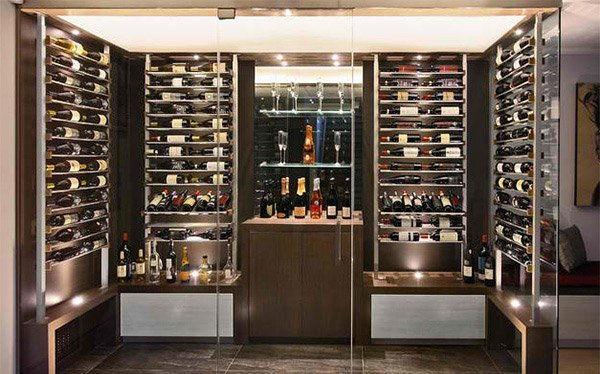 walk-in wine room