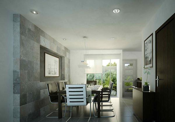 3D Gray Dining Room