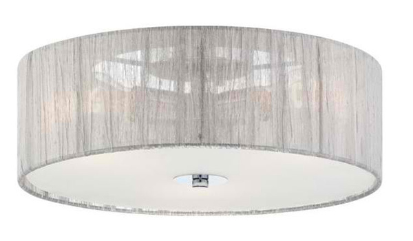 Possini Euro Sheer Silver Fabric 6 1/2-Inch-H Ceiling Light