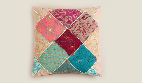 Sari Patch Throw Pillow