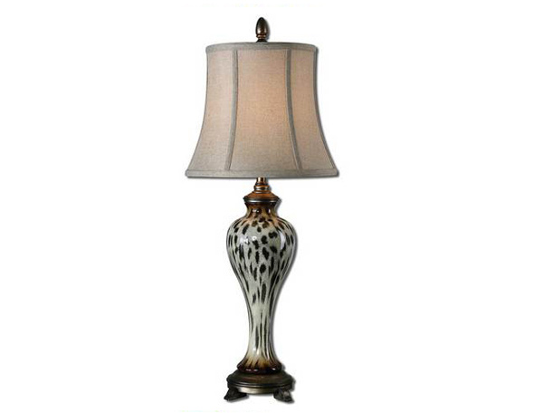 Malawi Cheetah Print Buffet Lamp