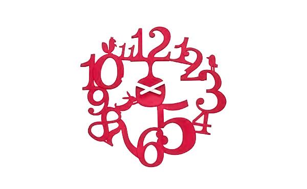 Koziol Pi Red Wall Clock