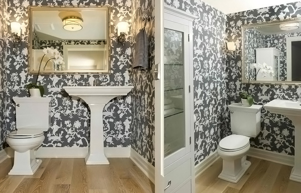 black and white wallpaper bathroom black and white wallpaper in 15 bathrooms and powder rooms 22760