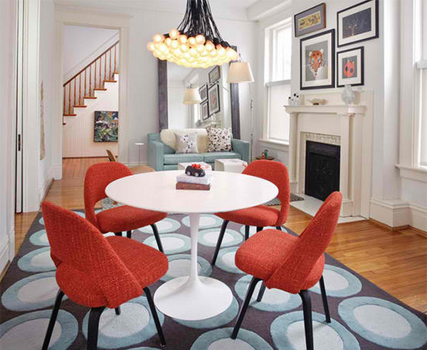 How to Get A Blue and Orange Dining Room | Home Design Lover