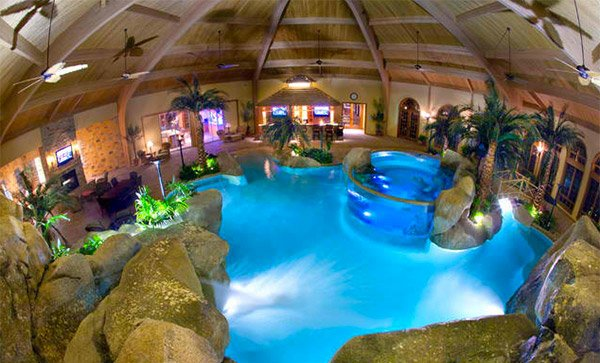 tropical pool indoors