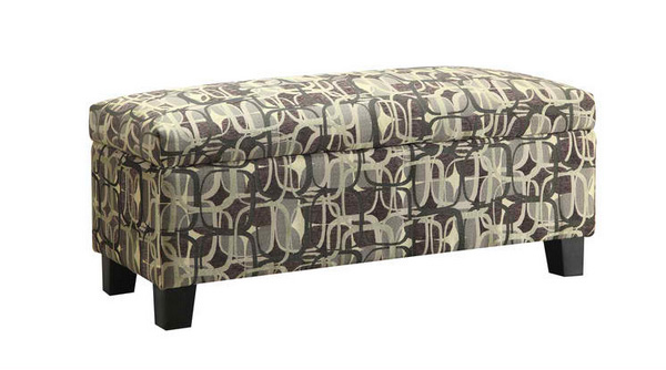 small fabric bench