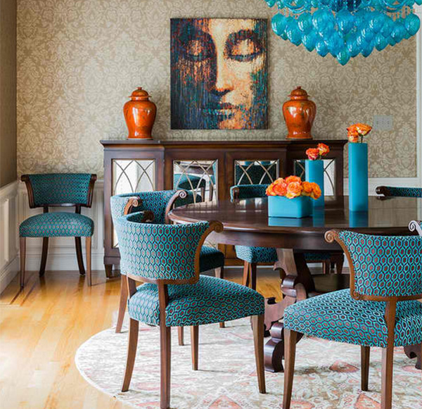 Teal Dining Room: How To Get A Blue And Orange Dining Room