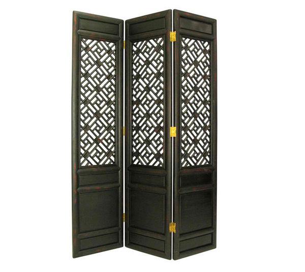 Wayborn Suchow Window Room Divider in Antique Black