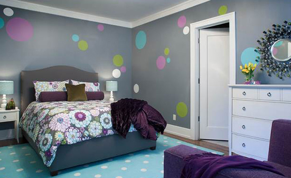 Bedroom polka dots Walls