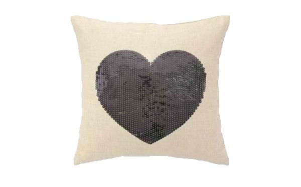 Sequin Heart Pillows