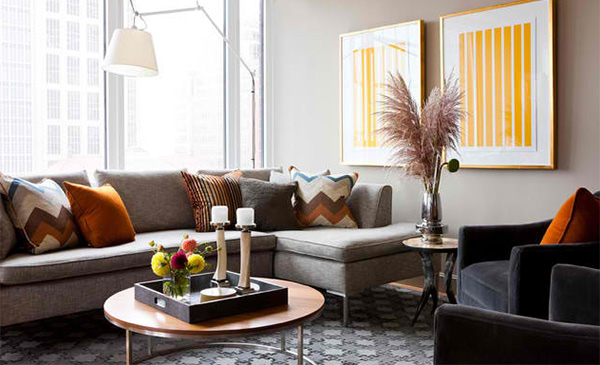 15 Ideas to Decorate a Modern Living Room With Throw Pillows | Home ...