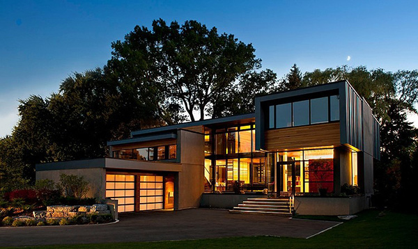 The exquisite modern thorncrest house in toronto canada for Modern home plans canada