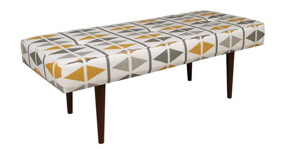 triangular prints bench