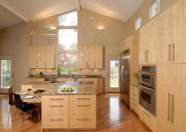 15 contemporary wooden kitchen cabinets home design lover for Contemporary oak kitchen cabinets