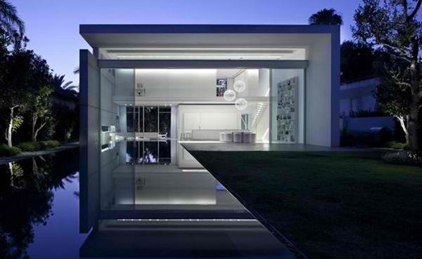 Home Enveloped in White