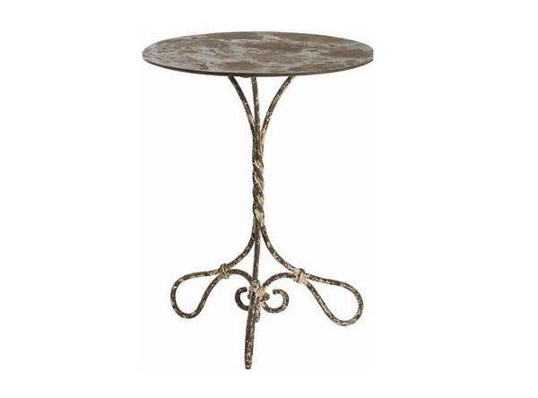 whitewashed iron table