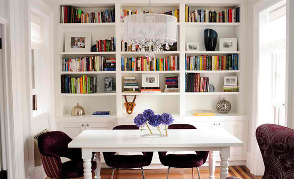 15 Ideas For Adding Bookshelves In The Dining Room