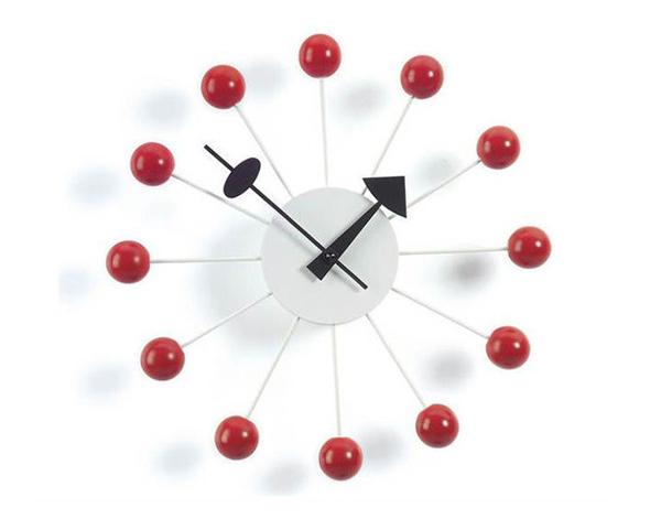 Nelson Ball Clock, Red