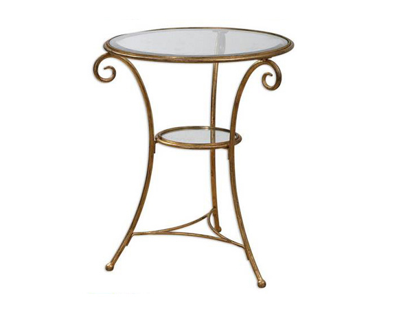 gold-leafed accent table