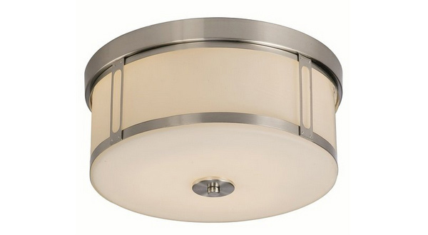 3-Light Brushed Nickel Flushmount Chandelier