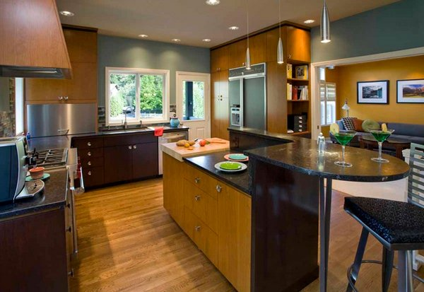 Kitchen Colors For Walls With Oak Dark Counters
