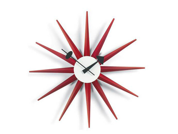 15 red wall clocks for your home home design lover. Black Bedroom Furniture Sets. Home Design Ideas