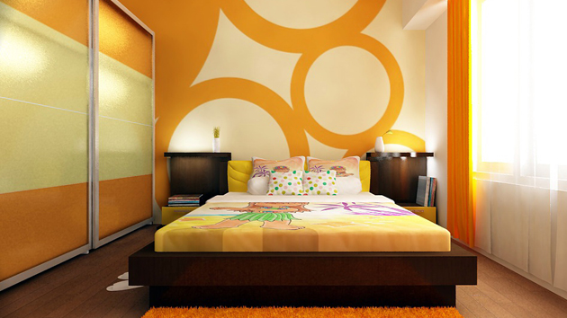 How To Design Bedroom Walls With Polka Dots And Circles | Home Design Lover