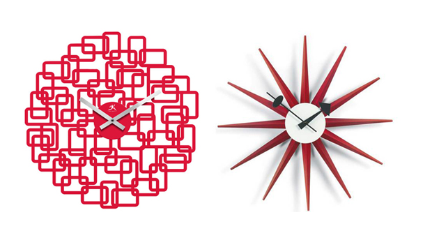 15 Red Wall Clocks For Your Home