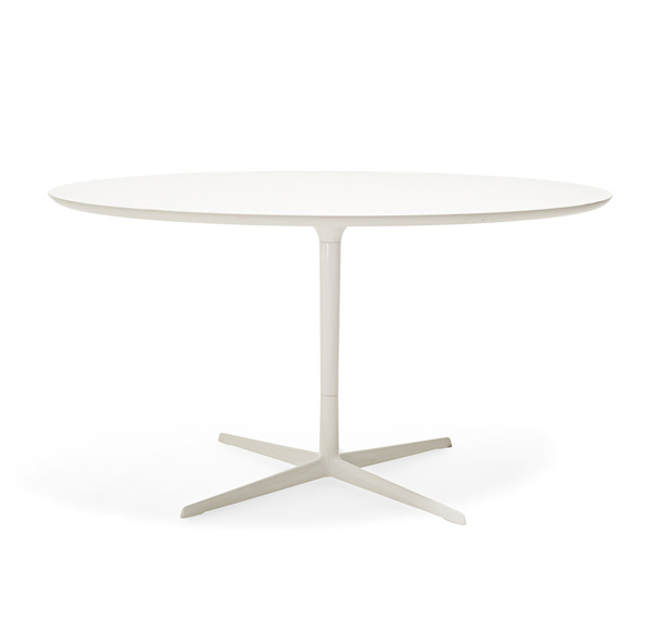 white dining tables - Round White Dining Table