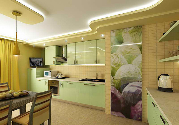 Pastel Green Kitchens