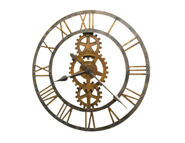 Industrial Wall Clock Designs