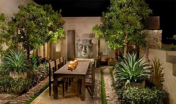 Beau Asian Themed Patio Designs