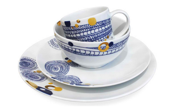 Basket 16-piece Dinnerware Set by Dana Oldfather