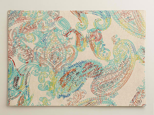 Multicolor Paisley Chambray Placemats