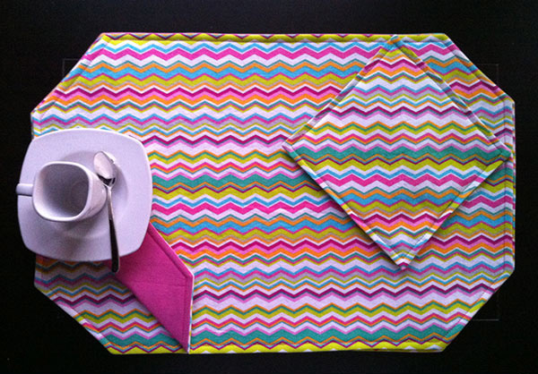 Colorful Easter Chevron Design Placemats