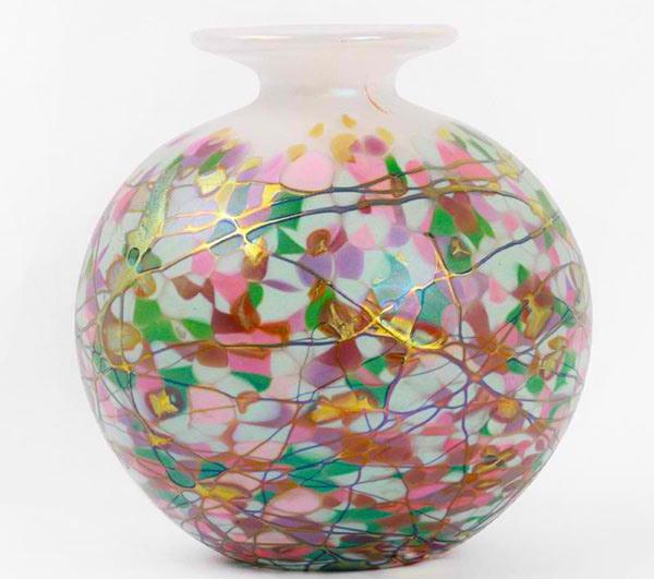 Small Round Vase in White
