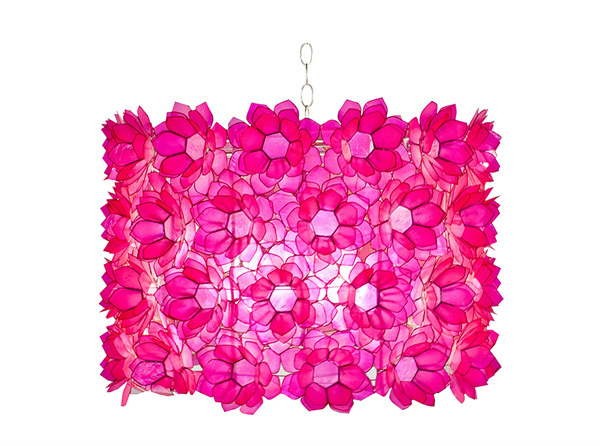 Pink Shell Floral Chandelier