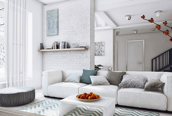 48 Modern White And Gray Living Room Ideas Home Design Lover Interesting White Living Room Ideas