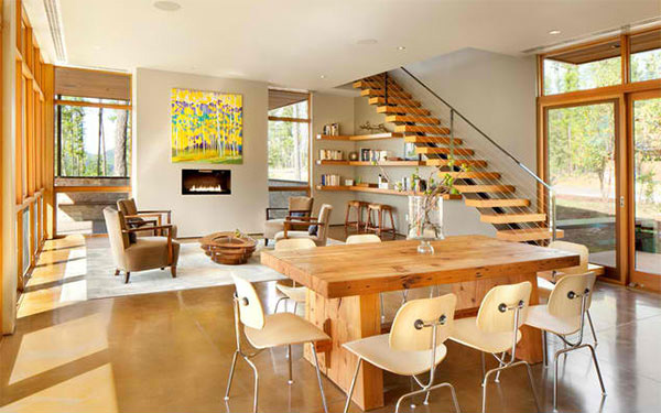 15 Ideas for Natural Modern Dining Rooms | Home Design Lover
