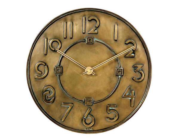 Frank Lloyd Wright Exhibition Typeface Wall Clock