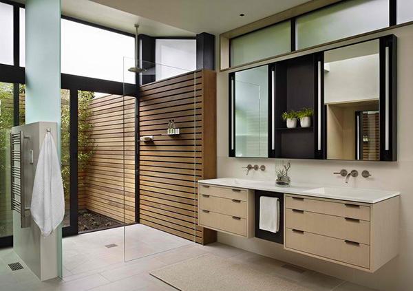 . 20 Sleek Ideas for Modern Black and White Bathrooms   Home Design Lover