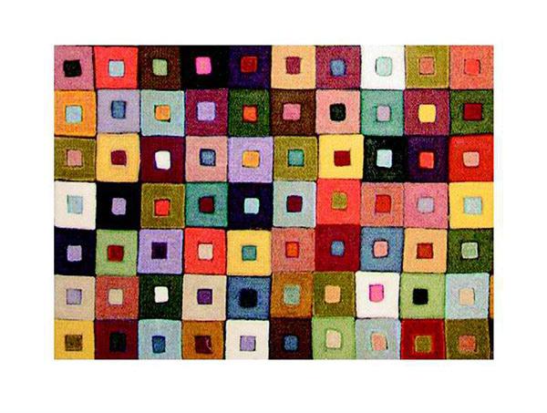 Liora Manne Mini Squares Jewel Placemats, Set of 4