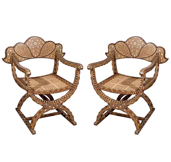 decorative Moroccan armchairs