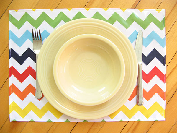 Rainbow Placemat - Lightweight Chevron Placemat