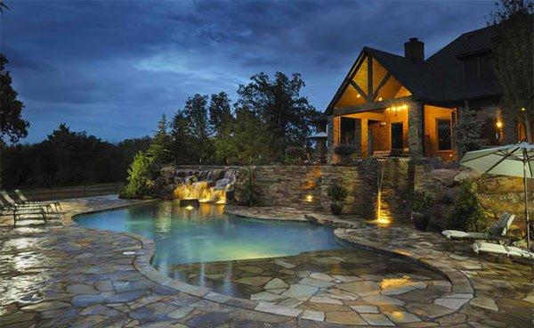Stone pool decking