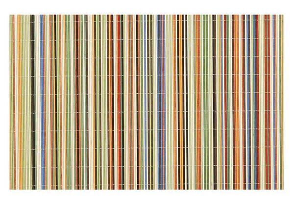 Benson Mills Rainbow Sticks Bamboo Multi Colored Placemats