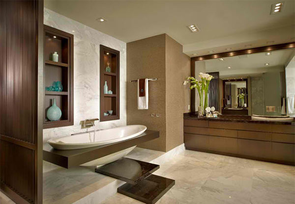 Contemporary Bathroom Countertops 15 bathrooms with granite countertops | home design lover