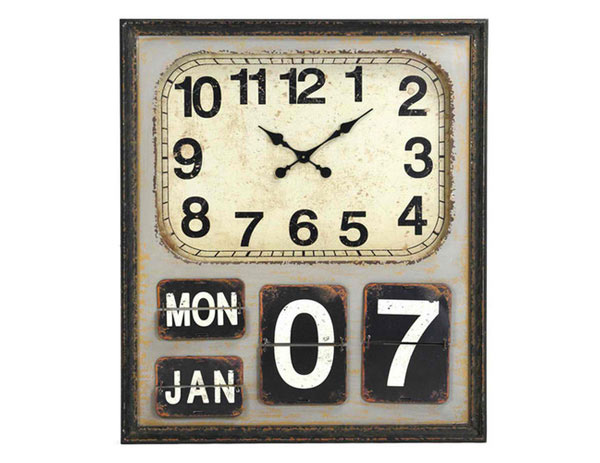 Rustic Industrial Loft Wooden Clock